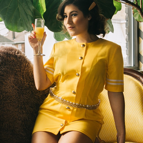 K.C. Spencer Dresses & Skirts - Vintage Yellow Minidress